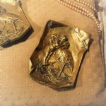 Victorian Brass Cherub and Stork Trays